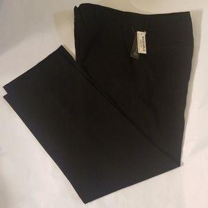 AUTH LARRY LEVINE PETITE BLACK STRETCH PANTS 10P